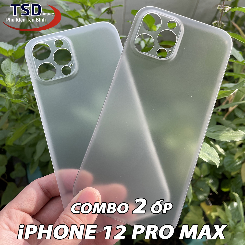 Combo 2 Ốp Lưng iPhone 12 PRO MAX Siêu Mỏng