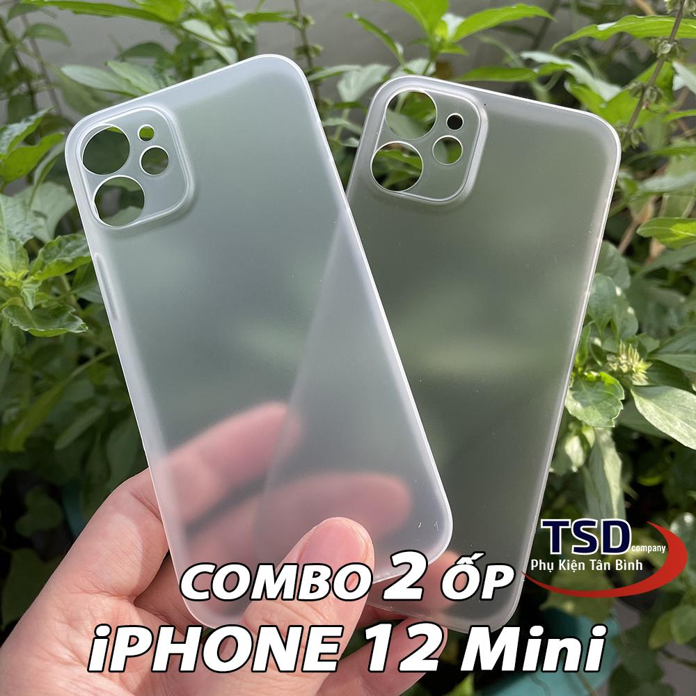 Combo 2 Ốp Lưng iPhone 12 Mini Siêu Mỏng
