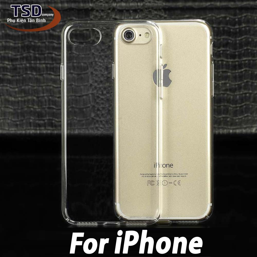 Ốp Lưng Silicon Trong Suốt Cho iPhone