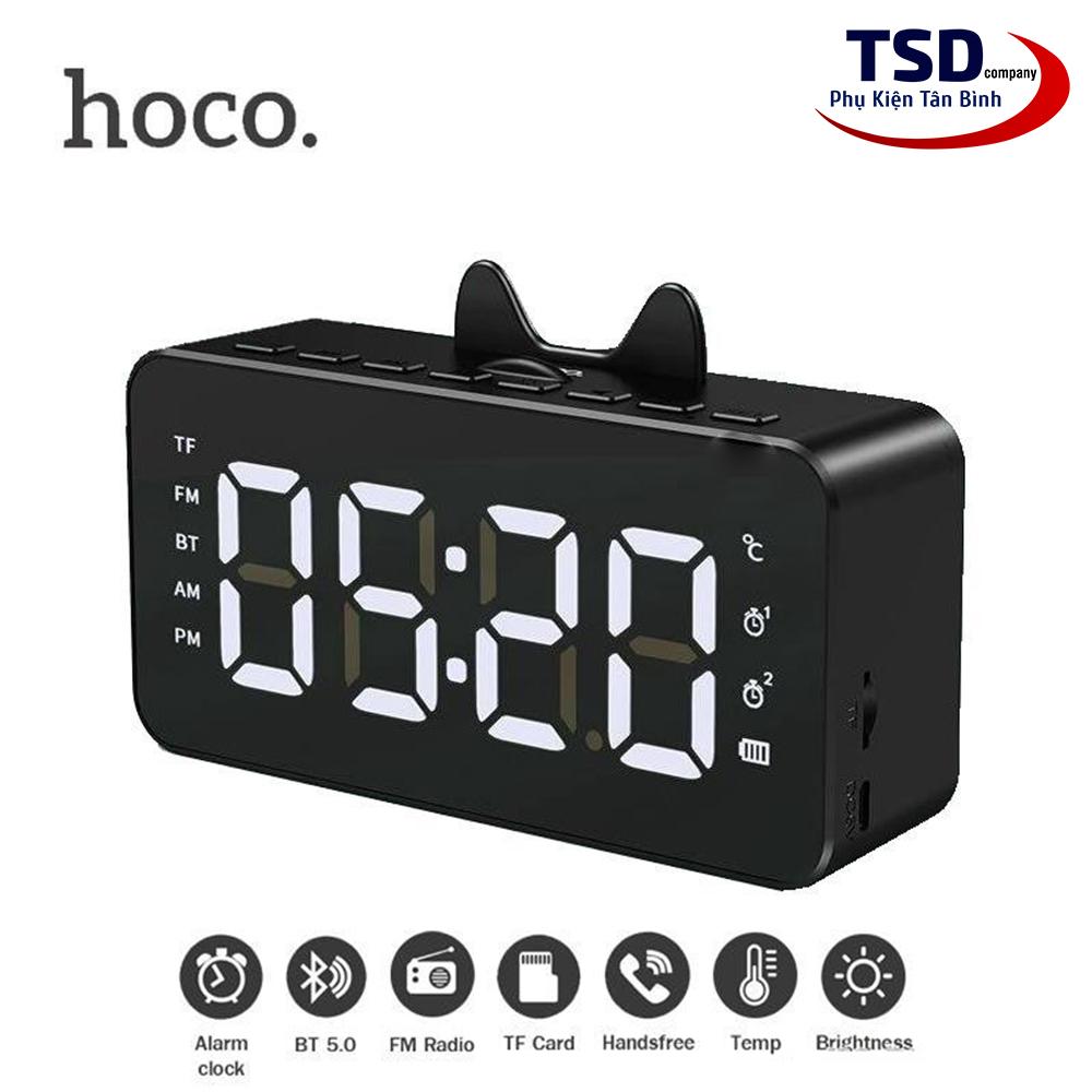 Loa Bluetooth Mini V5.0 Hoco HK7 Chính Hãng Có Đồng Hồ Báo Thức