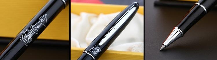 Chi tiết thiết kế bút dạ bi Picasso 606 màu đen