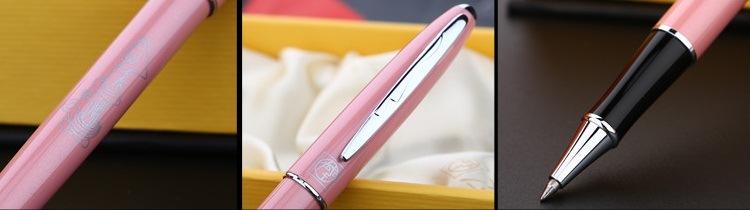 Chi tiết thiết kế bút dạ bi Picasso 606 màu hồng