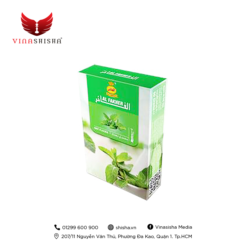 Al Fakher Tobacco 50g – Mint (Hương Bạc Hà)