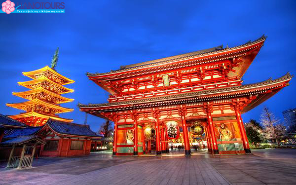 Chùa Asakusa Nhật Bản