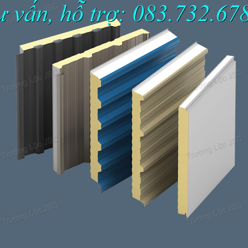 các biên dạng sóng của panel, panel vách trong, panel vách ngoài, panel mái, panel eps, panel pu, panel bông thủy tinh