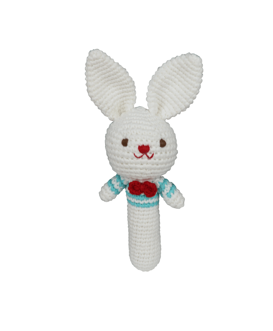 Baby Rabbit Boy Rattle