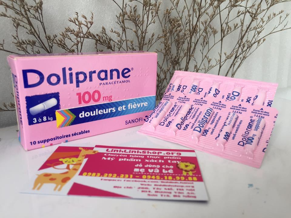 Thuốc hạ sốt Doliprane dạng viên nhét hậu môn.