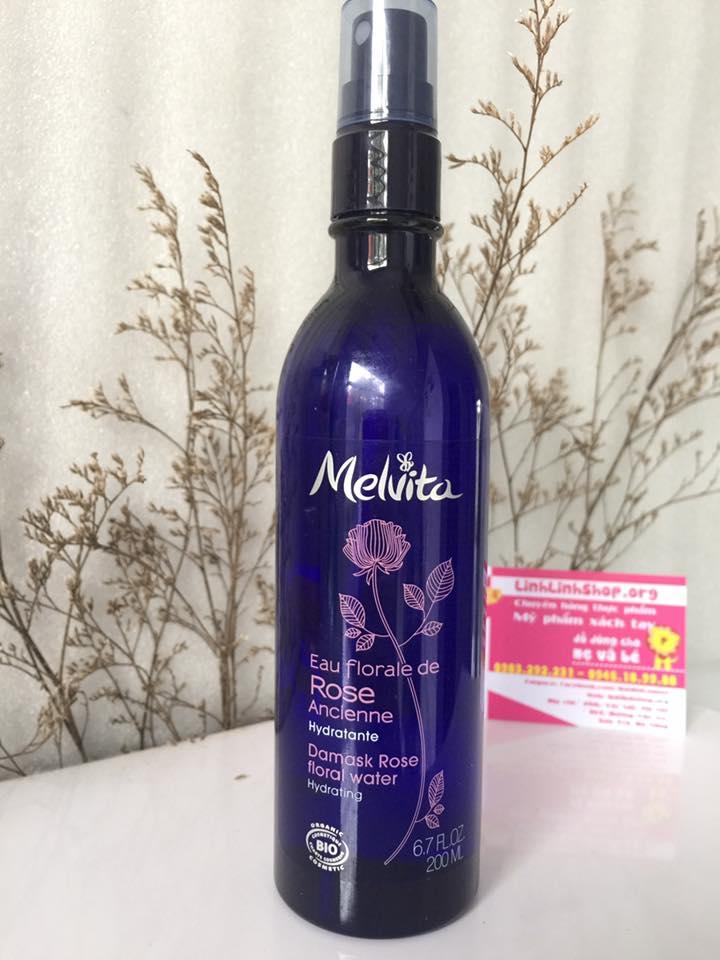 Nước hoa hồng Melvita Eau Florade de Rose