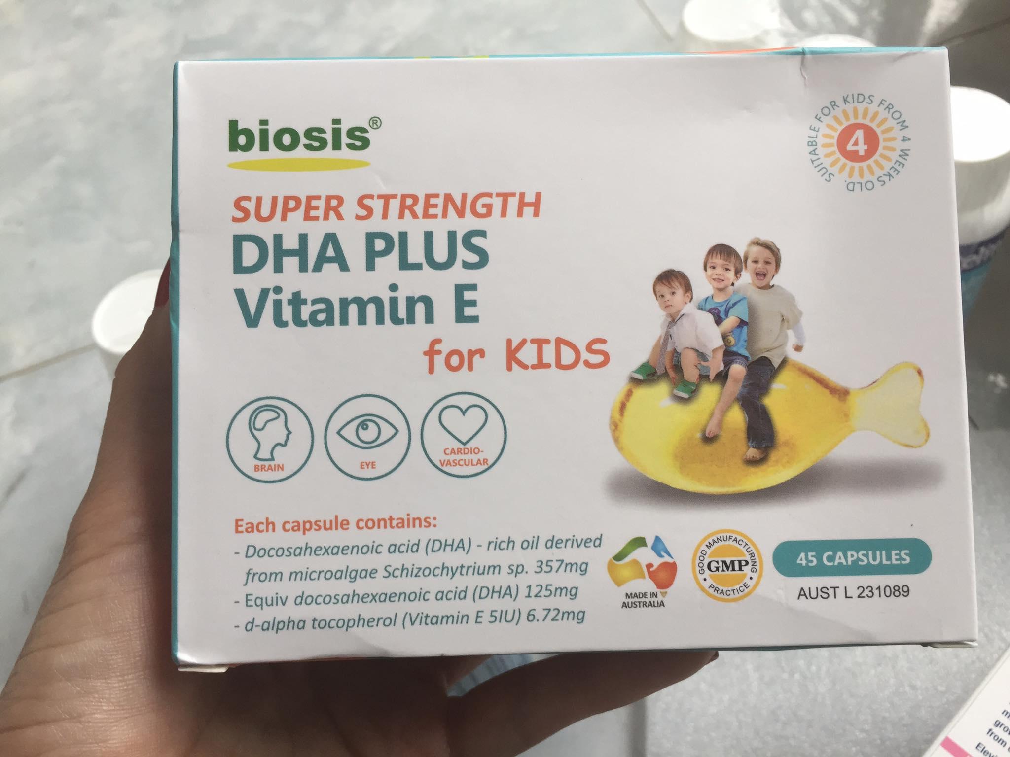DHA biosis vỉ 45 viên