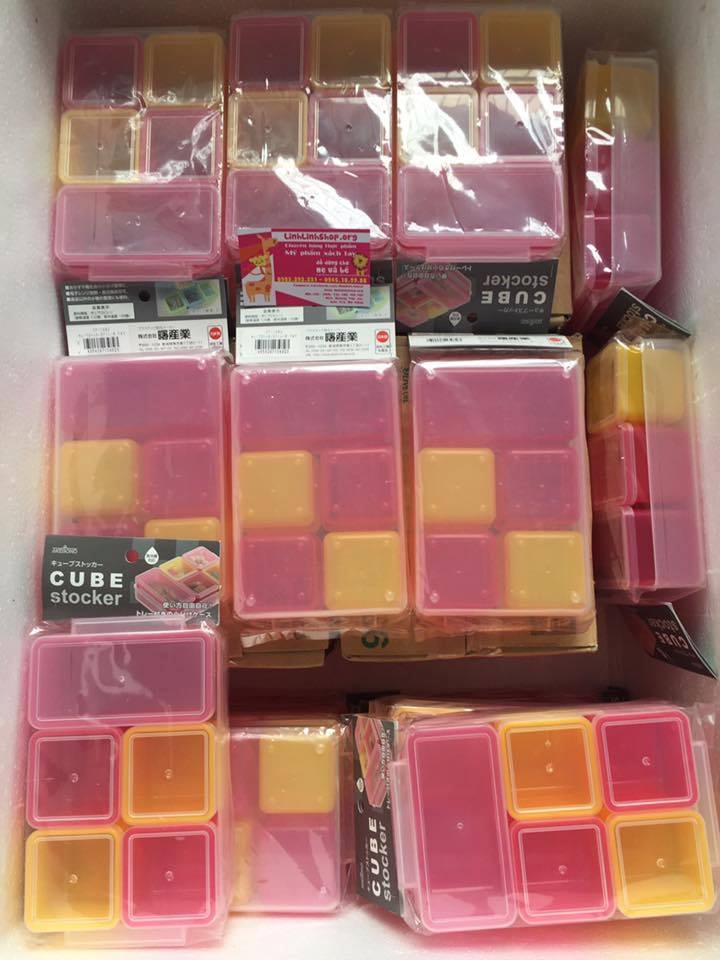 Khay trữ đông 5 hộp sắc màu Cube Nhật