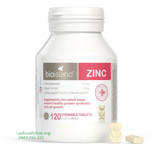 Bio Island Zinc 120 viên bổ sung kẽm cho trẻ