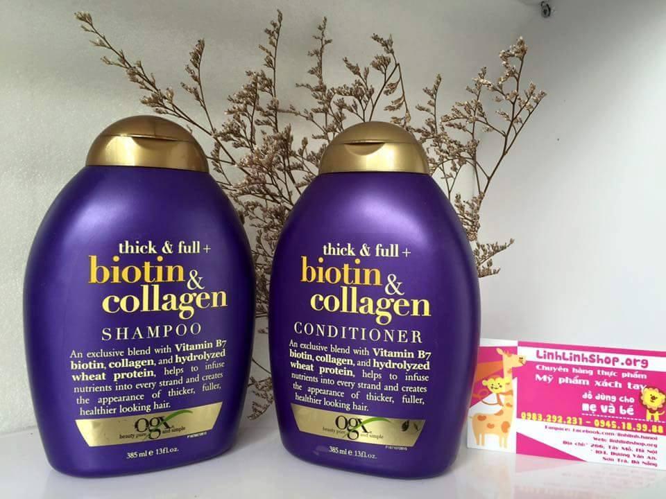 Bộ dầu gội xả tóc Biotin Mỹ 385ml