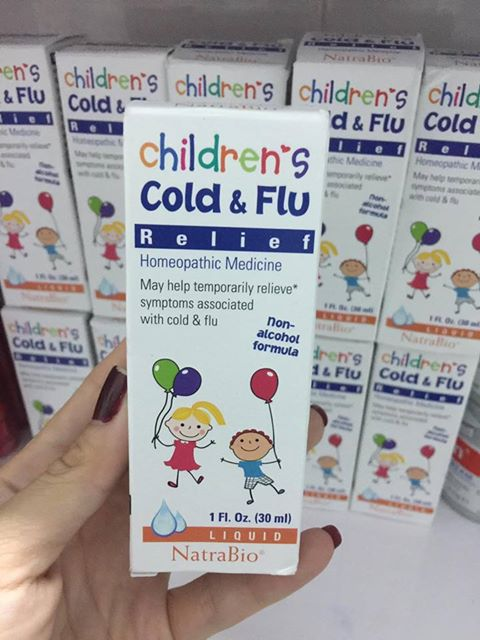 Siro đặc trị cảm cúm cho bé Cold & Flu lọ 30ml