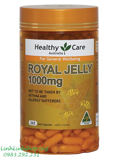 Sữa Ong Chúa Úc Healthy Care Royal Jelly 1000mg ( 365 Viên )