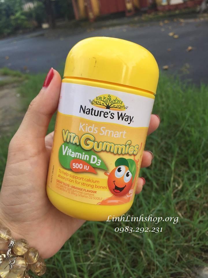 Kẹo Kids Smart Vita Gummies Vitamin D3 500 IU 60 viên Úc