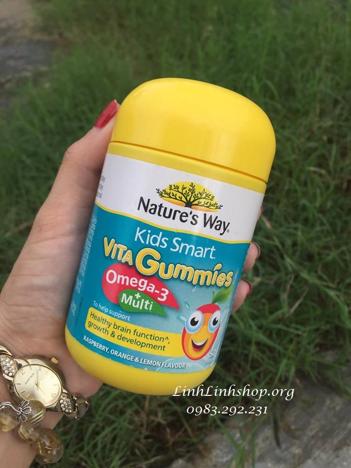Kẹo Gummies 60 viên dầu cá Omega 3 + Multi