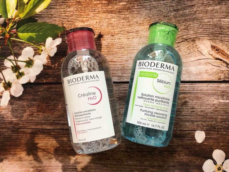 Nước tẩy trang hoa hồngBioderma500ml Hồng