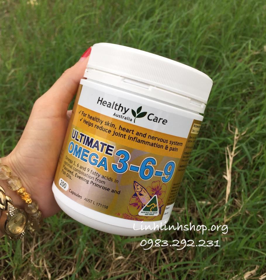OMEGA 3-6-9 HEALTHY CARE ÚC 200 VIÊN