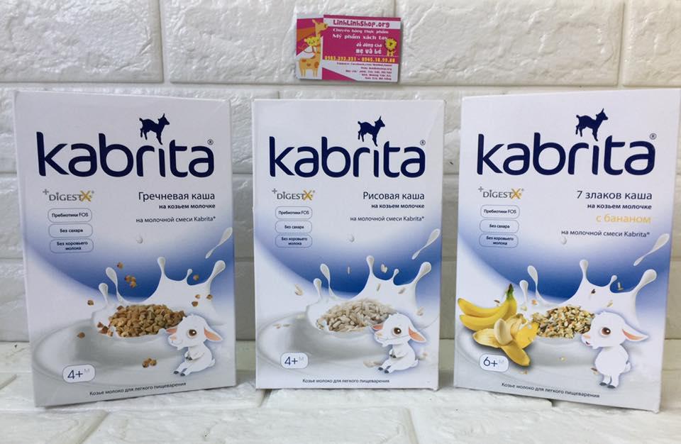 Bột ăn dặm sữa dê Kabrita