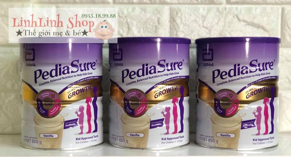 Sữa Pediasure của Úc 850g