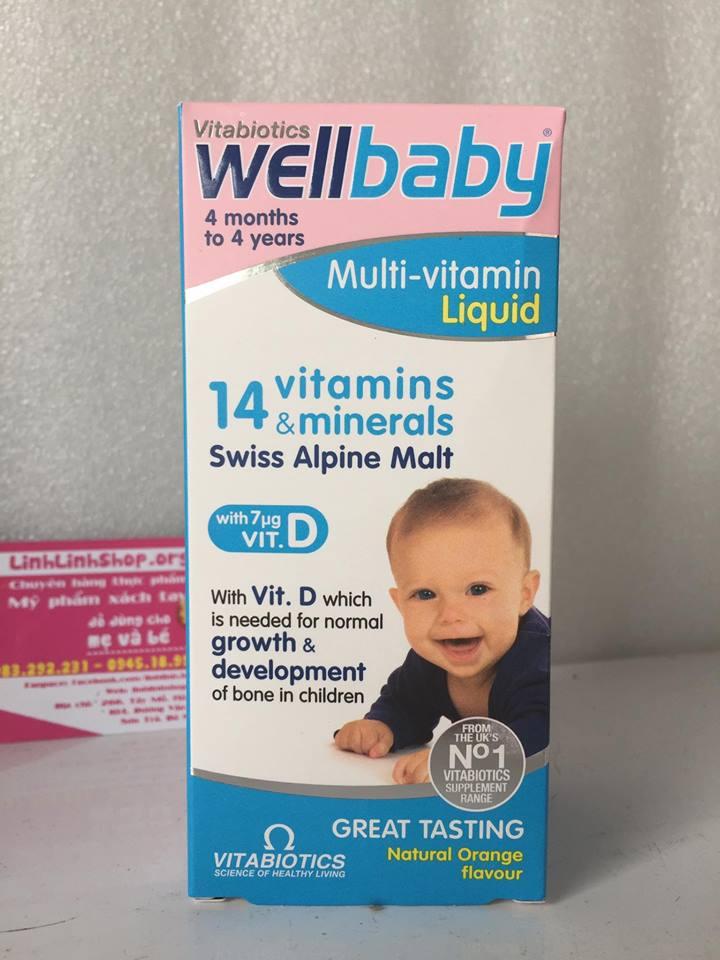 Wellbaby 14 vitamin Cho bé từ 4 tháng - 5 tuổi