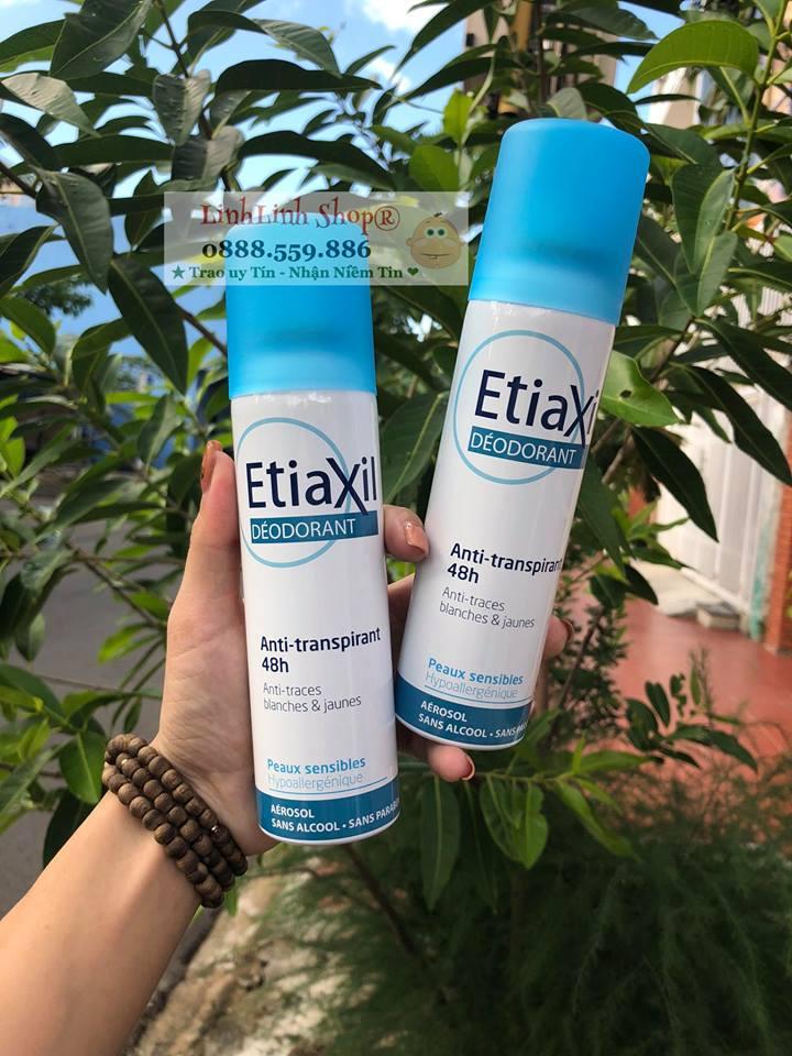 Xịt nách khử mùi Etiaxil Deodorant Anti traces blanches & jaunes