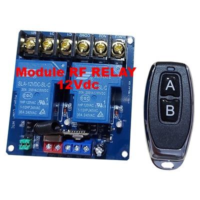 Module HTC RF 2 Relay 433MHz - 12V 30A