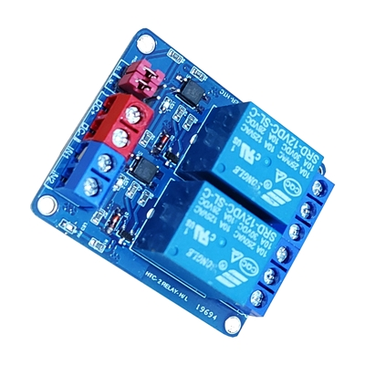 Module 2 Relay 12V opto high/low HTC