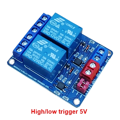 Module 2 Relay 5V opto high/low HTC