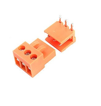 3-Pin Pcb Terminal 3.96mm  Orange