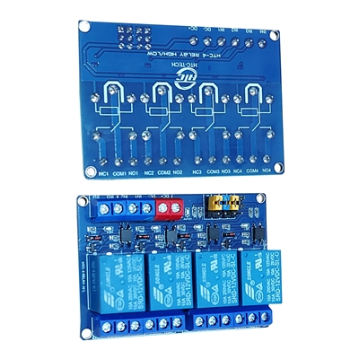 Module 4 Relay 12V opto high/low HTC