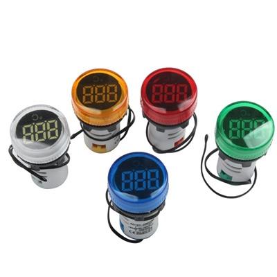 LED display temperature 22MM meter RED