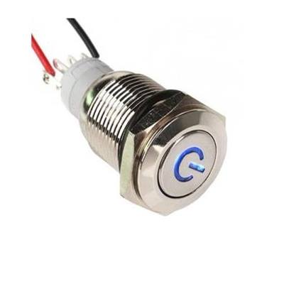 PW-1 Button switch 16mm 12V Blue