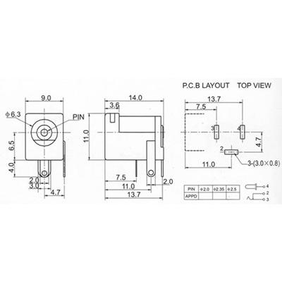 Power Jack DC-005 5.5*3.0mm