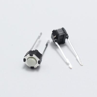 Tact switch Round Micro 6*6*5  2 Pin white