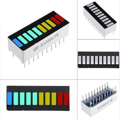 LED Battery 10 Segment 4 Color Display-B