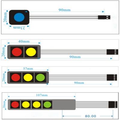 1 Key Button Membrane Blue