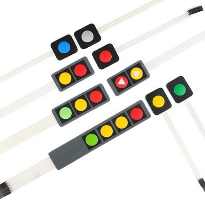1 Key Button Membrane Red