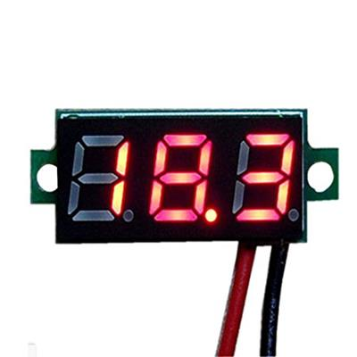 DC digital voltmeter 0.36-inch LED red 2 wire