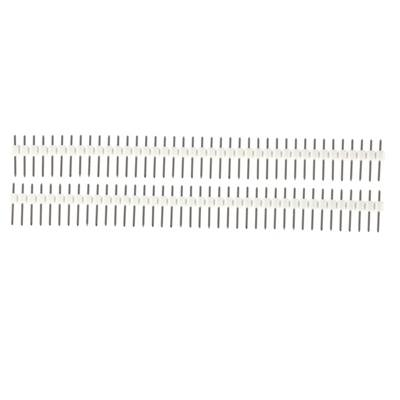 1x40 Pin 2.54mm DIP Straight white color
