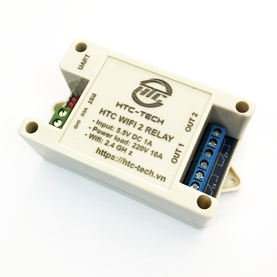 Module HTC WiFi ESP8266 2 Relay