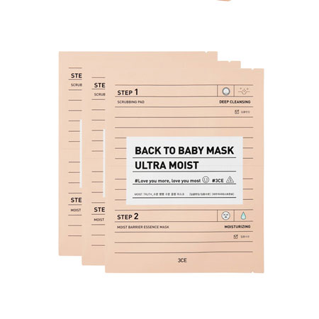 MẶT NẠ 3CE BACK TO BABY MASK # ULTRA MOIST