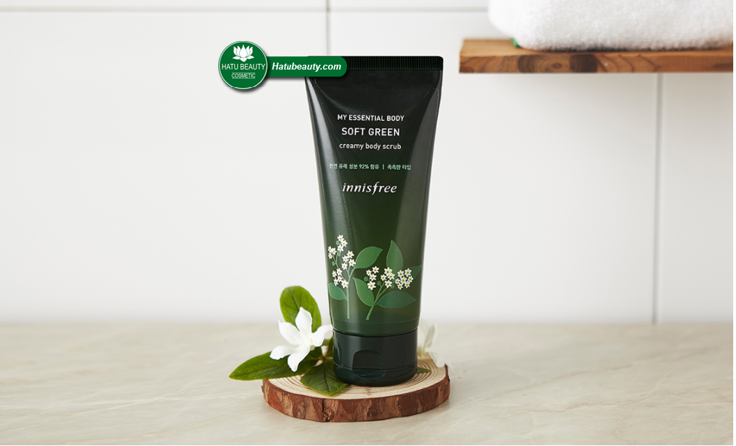 Innisfree my essential body soft green creamy body scrub