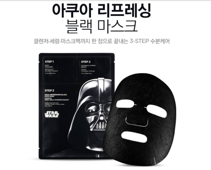 mặt nạ the face shop Refreshing Aqua Black Mask (disney_ Star Wars)