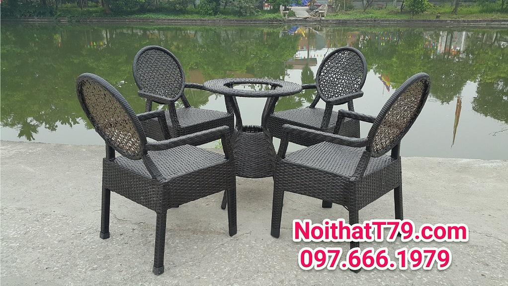 Bàn ghế cafe 000808