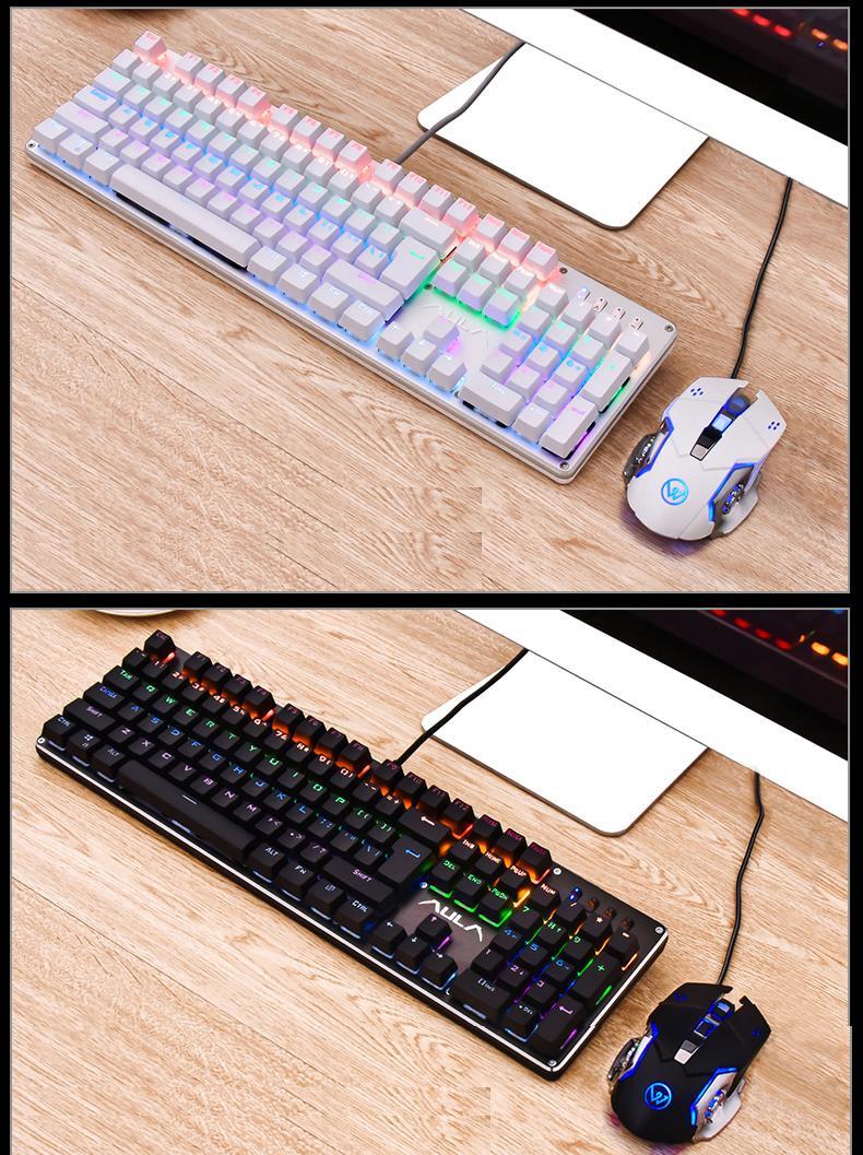 Bàn phím Cơ Aula si-2010 Mechanical Led RGB