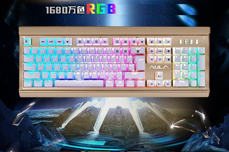 Bàn phím Cơ Aula si-2029 Mechanical Led Rainbow no siade light