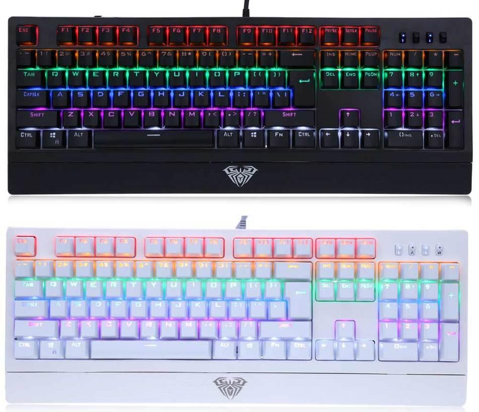Bàn phím Cơ Aula si-890s Mechanical Led Rainbow
