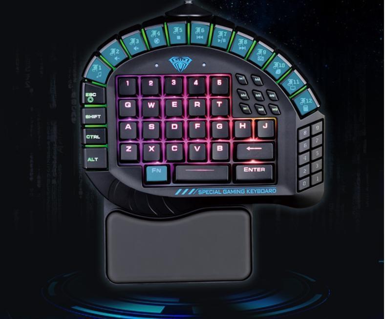 Bàn phím Cơ Aula si-881 Mechanical Led RGB