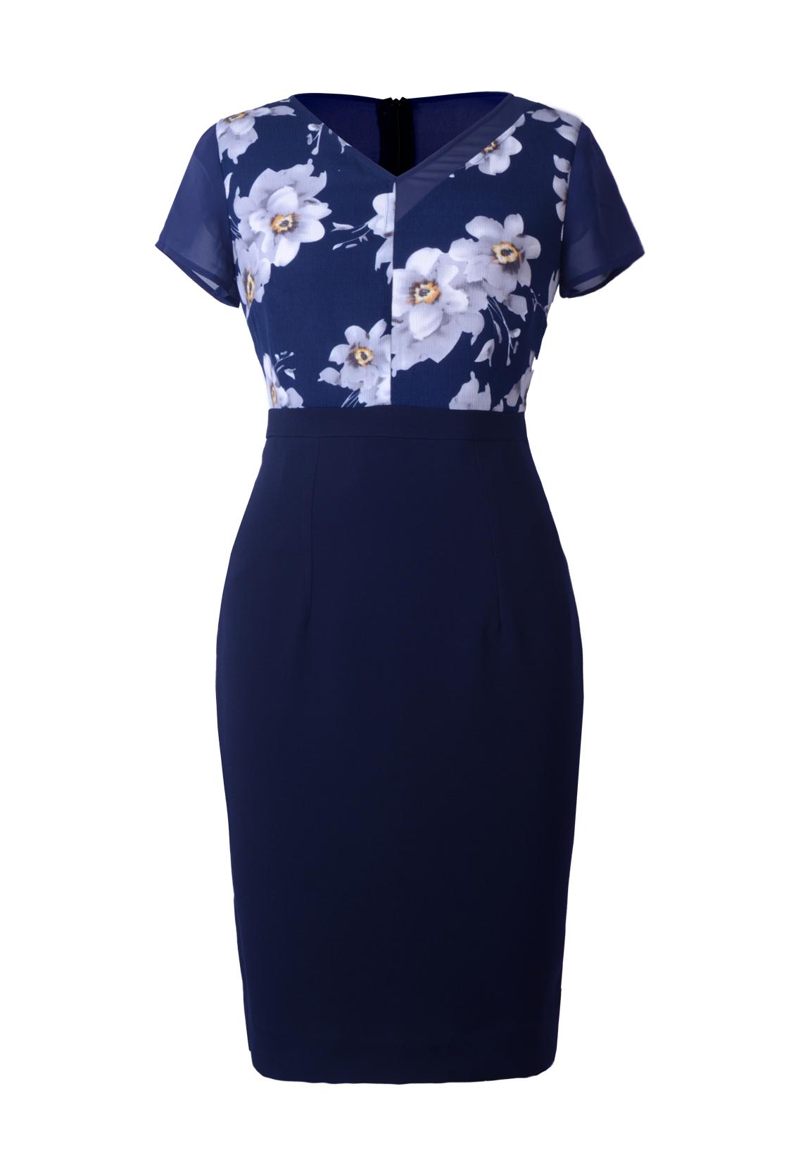 Đầm ôm phối hoa